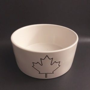 Rae Dunn Maple Leaf Dog Bowl (Canadian Exclusive)